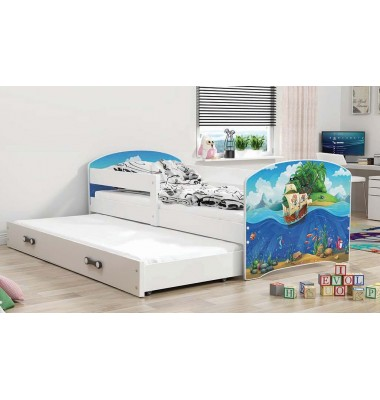 Dvivietė lova Lukas II Balta